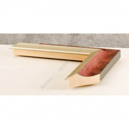SCO2020/203 45x23 - drewniana pastelli czerwona-srebrna rama do obrazów i luster sample1