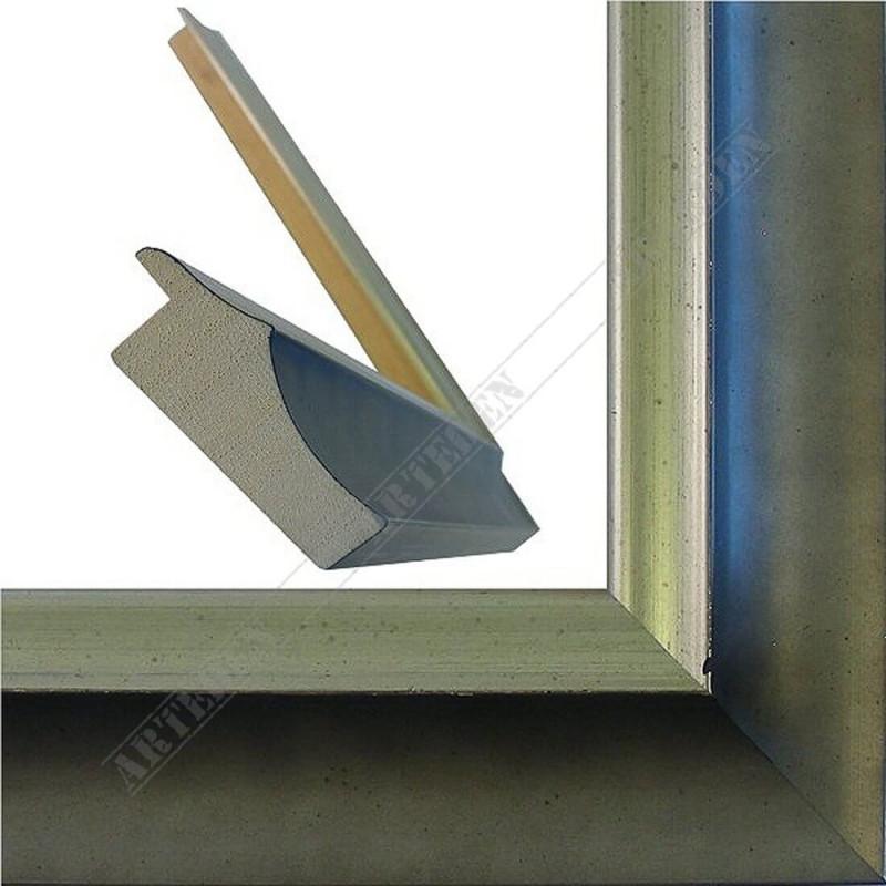 SCO2020/205 45x23 - drewniana pastelli szara-srebrna rama do obrazów i luster