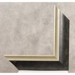 SCO2020/208 45x23 - drewniana pastelli grafitowa-srebrna rama do obrazów i luster sample