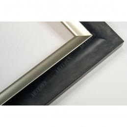 SCO2020/208 45x23 - drewniana pastelli grafitowa-srebrna rama do obrazów i luster