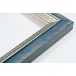 SCO2021/201 26x20 - wąska pastelli niebieska-srebrna rama do zdjęć i luster
