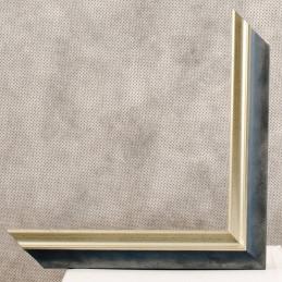 SCO2021/201 26x20 - wąska pastelli niebieska-srebrna rama do zdjęć i luster sample