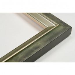 SCO2021/202 26x20 - wąska pastelli zielona-srebrna rama do zdjęć i luster