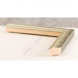 SCO2021/202 26x20 - wąska pastelli zielona-srebrna rama do zdjęć i luster sample1