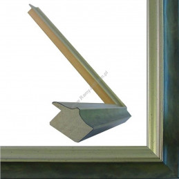 SCO2021/202 26x20 - wąska pastelli zielona-srebrna rama do zdjęć i luster sample2