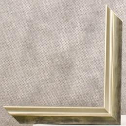 SCO2021/202 26x20 - wąska pastelli zielona-srebrna rama do zdjęć i luster sample