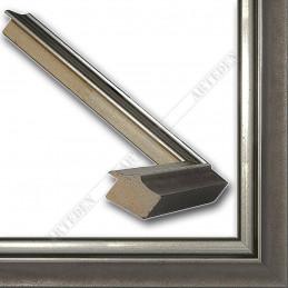 SCO2021/205 26x20 - wąska pastelli szara-srebrna rama do zdjęć i luster sample2