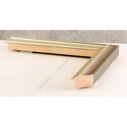 SCO2021/205 26x20 - wąska pastelli szara-srebrna rama do zdjęć i luster sample1