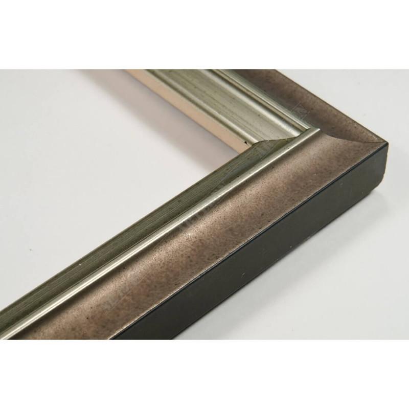 SCO2021/205 26x20 - wąska pastelli szara-srebrna rama do zdjęć i luster