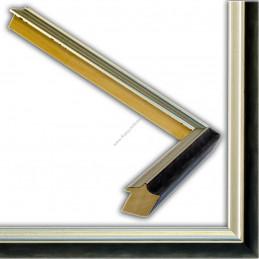 SCO2021/208 26x20 - wąska pastelli grafitowa-srebrna rama do zdjęć i luster sample2