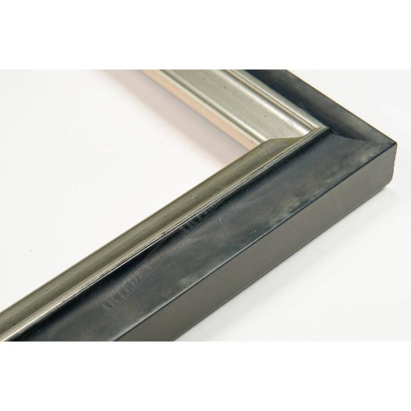 SCO2021/208 26x20 - wąska pastelli grafitowa-srebrna rama do zdjęć i luster