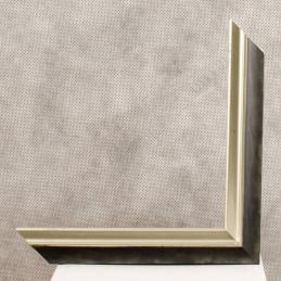 SCO2021/208 26x20 - wąska pastelli grafitowa-srebrna rama do zdjęć i luster sample