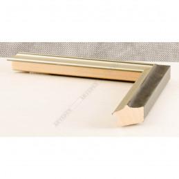 SCO2021/208 26x20 - wąska pastelli grafitowa-srebrna rama do zdjęć i luster sample1