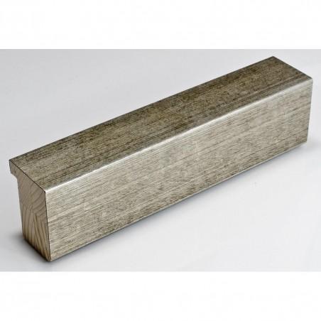 SCO2600/435 40x50 - drewniana srebrna stara rama do obrazów