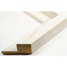SCO302/71 50x35 - drewniana cotton club biała rama do obrazów i luster sample