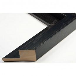 SCO302/72 50x35 - drewniana cotton club czarna rama do obrazów i luster sample