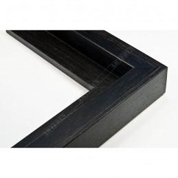 SCO302/72 50x35 - drewniana cotton club czarna rama do obrazów i luster