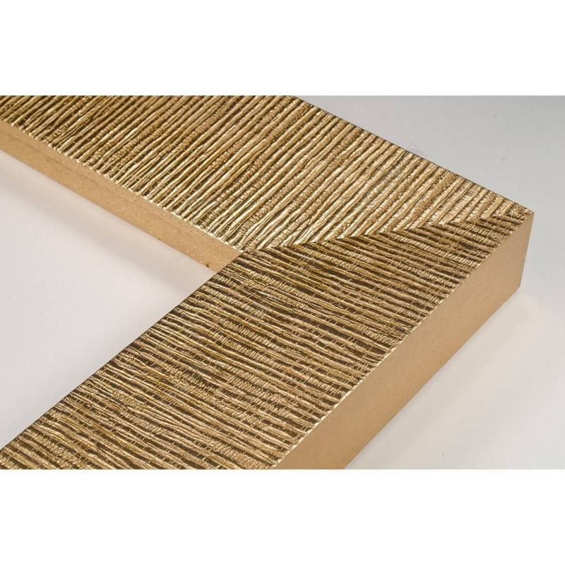 SCO314/21 70x35 - drewniana hawana złota rama do obrazów i luster