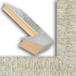SCO314/22 70x35 - drewniana hawana srebrna rama do obrazów i luster sample