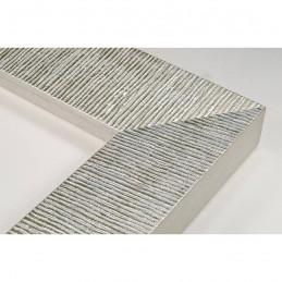 SCO314/22 70x35 - drewniana hawana srebrna rama do obrazów i luster