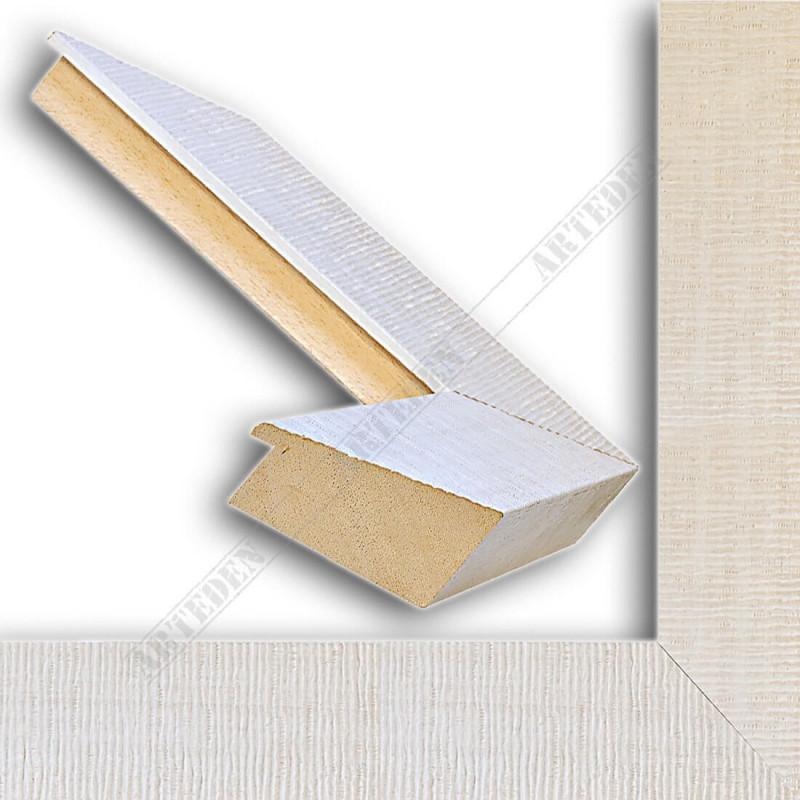 SCO314/30 70x35 - drewniana hawana biała rama do obrazów i luster