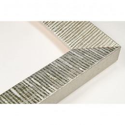 SCO315/22 39x23 - drewniana hawana srebrna rama do obrazów i luster