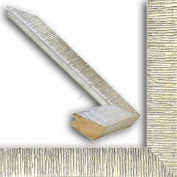 SCO315/22 39x23 - drewniana hawana srebrna rama do obrazów i luster sample
