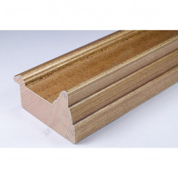 SCO325/70 70x43 - drewniana złota rama do obrazów i luster sample1
