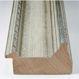 SCO325/71 70x43 - drewniana srebrna rama do obrazów i luster sample