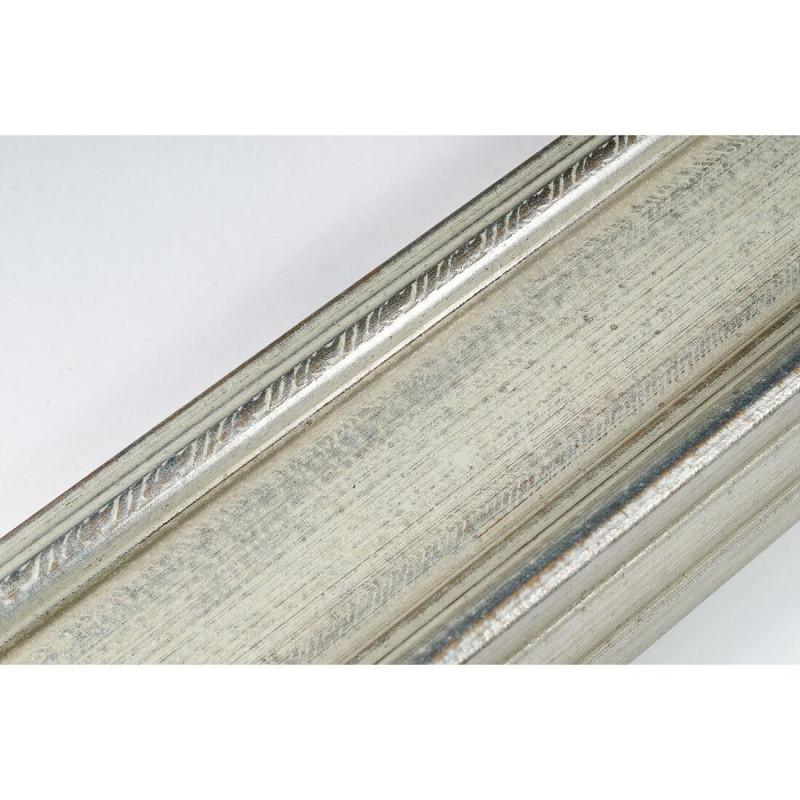 SCO325/71 70x43 - drewniana srebrna rama do obrazów i luster