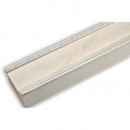 SCO326/75 50x30 - drewniana biała rama do obrazów i luster