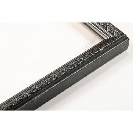 SCO513/58 16x20 - czarna ramka do zdjęć z dekorem czarno-srebrnym