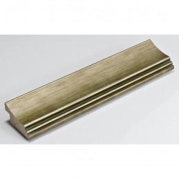 SCO553/907 45x22 - drewniana przecierane ciepłe srebro rama do obrazów i luster