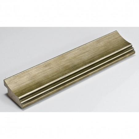 SCO553/907 45x22 - ciepła przecierana srebrna rama do obrazów