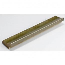 SCO553/907 45x22 - drewniana przecierane ciepłe srebro rama do obrazów i luster sample