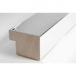 SCO6006/46 40x30 - drewniana srebro wysoki połysk rama do obrazów i luster sample