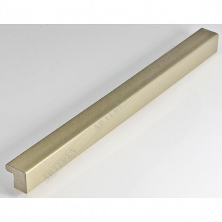 SCO6008/211 20x20 - mała jasna złota ramka drapana do obrazów