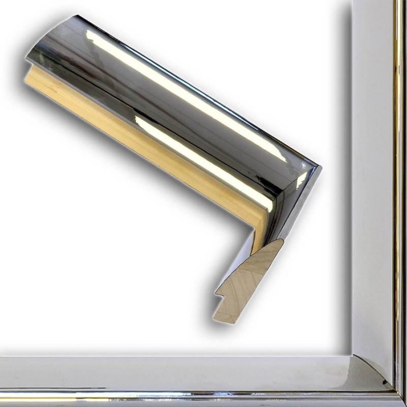 SCO6009/47 13x60 - mała ciemne srebro wysoki połysk ramka do zdjęć i obrazków