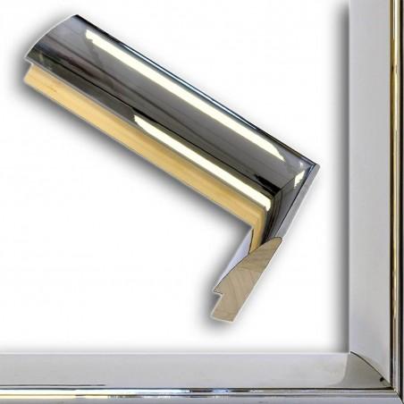 SCO6009/47 13x60 - ciemna srebrna rama lustrzanka do obrazów