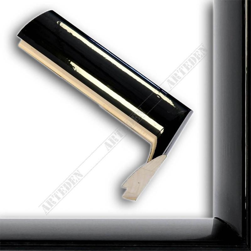 SCO6009/48 13x60 - mała czarna wysoki połysk ramka do zdjęć i obrazków