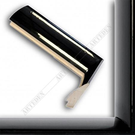 SCO6009/48 13x60 - czarna rama wysoki połysk do obrazów i luster