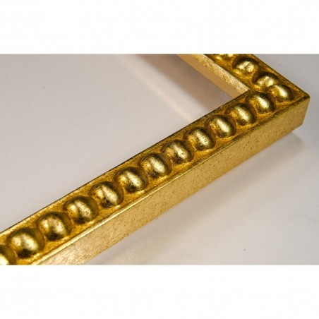 SCO724/11 18x20 - mała złota kulki ramka do zdjęć i obrazków