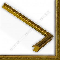 SCO73/11 17x18 - mała ducale złota ramka do zdjęć i obrazków