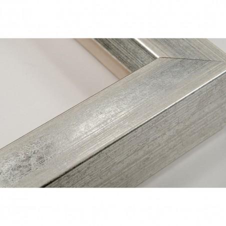 SCO816/181 35x40 - jasna srebrna rama ze skosem do obrazów