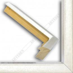 SCO816/181 35x40 - drewniana srebro jasne blejtram rama do obrazów i luster sample