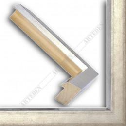 SCO816/182 35x40 - drewniana srebro ciemne blejtram rama do obrazów i luster sample