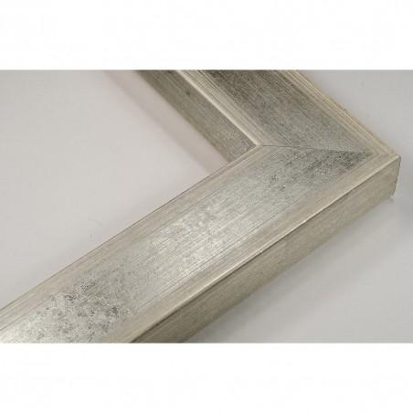 SCO818/181 50x25 - drewniana srebro jasne rama do obrazów i luster