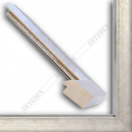 SCO818/182 50x25 - drewniana srebro ciemne rama do obrazów i luster sample