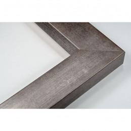 SCO818/182 50x25 - drewniana srebro ciemne rama do obrazów i luster