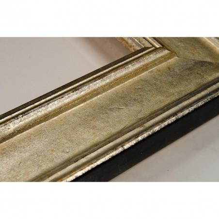 SCO826/43 47x19 - drewniana srebrna rama do obrazów i luster